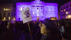 Manifestación contra la violencia machista, el 25 de noviembre del 2015, en Barcelona.