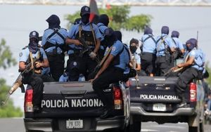 Miembros de la Policía Nacional de Nicaragua.
