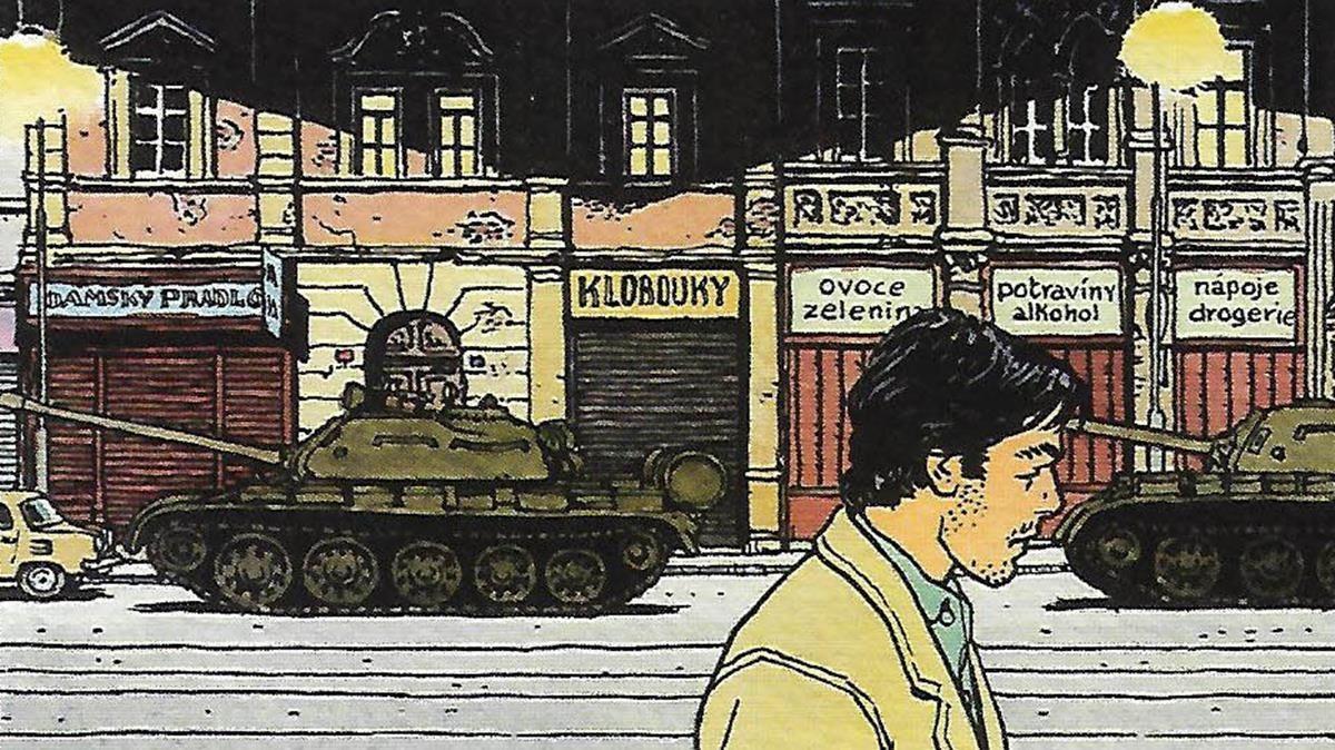 Viñeta de 'Jonas Fink 4', de Vittorio Giardino.