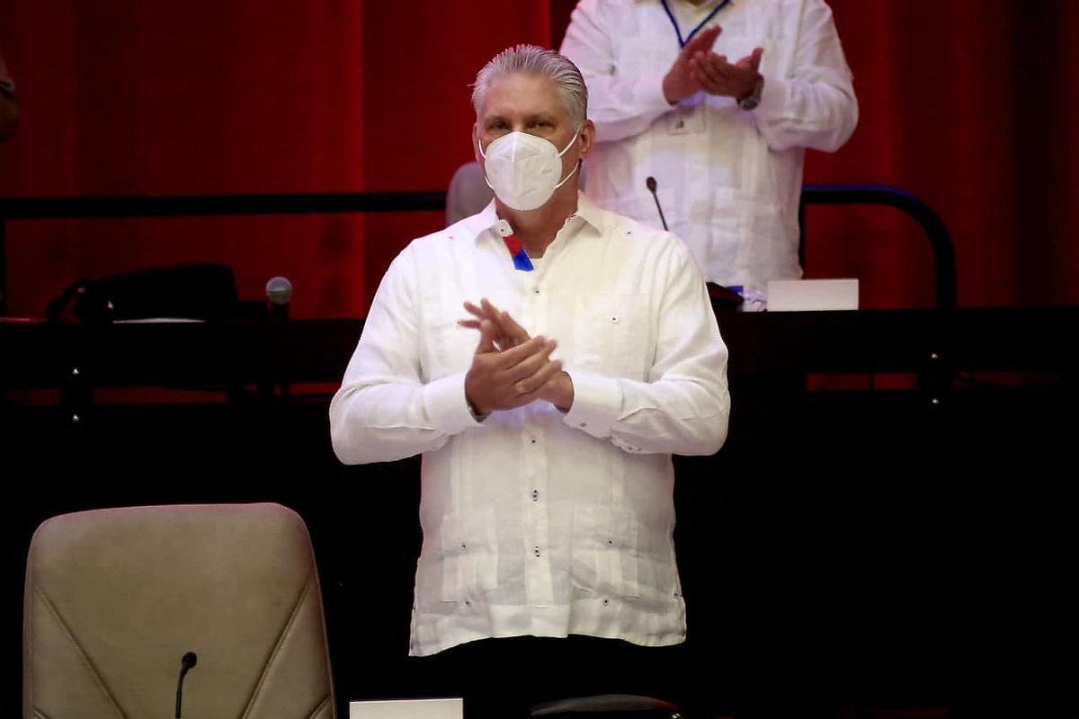 Díaz-Canel en el congreso del Partido Comunista cubano de este fin de semana.