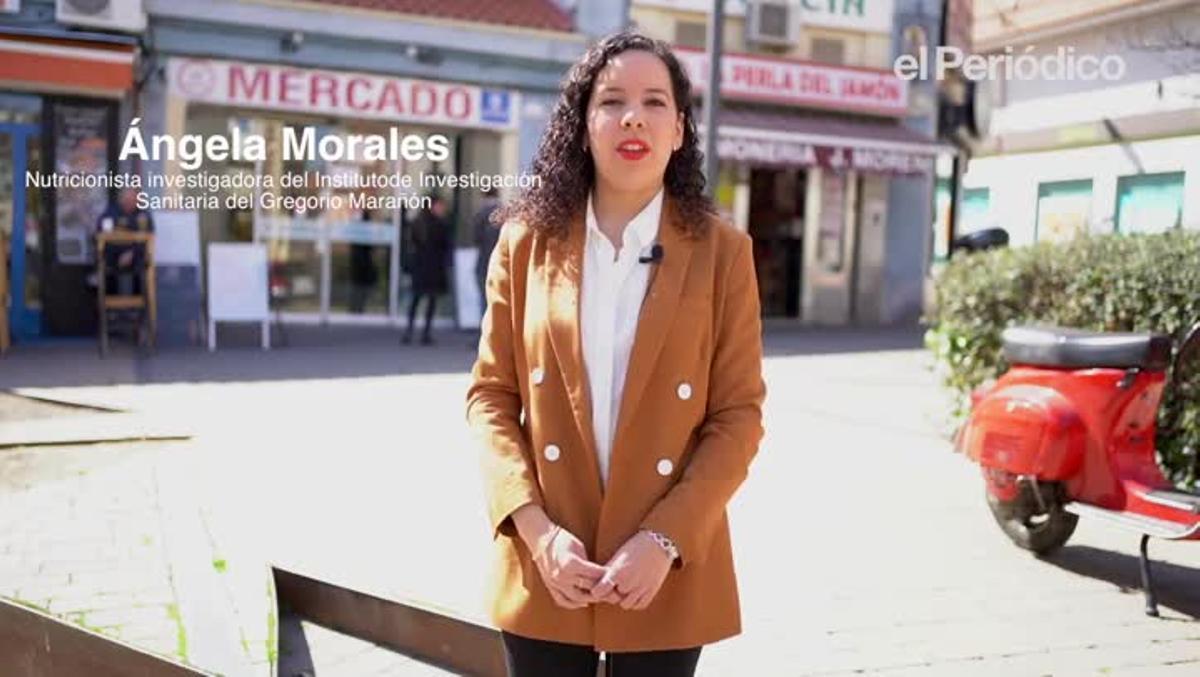 La nutricionista Ángela Morales habla sobre los básicos en la despensa en tiempos del coronavirus en Madrid.