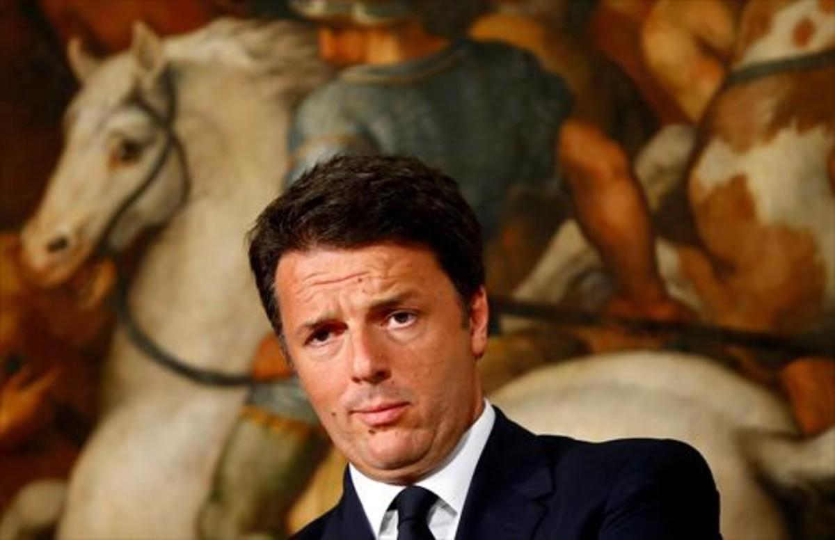 Matteo Renzi, durante una rueda de prensa en el palacio Chigi, en el mes de junio.