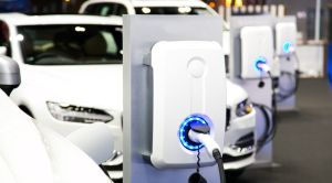 Un cargador inteligente de automóviles eléctricos de Greencharge.