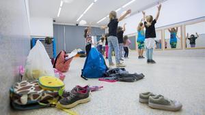 Actividad extraescolar en una escuela del barrio del Poblenou, en octubre del 2018.