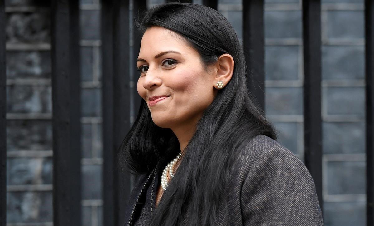 La ministra de Interior británica,Priti Patel.
