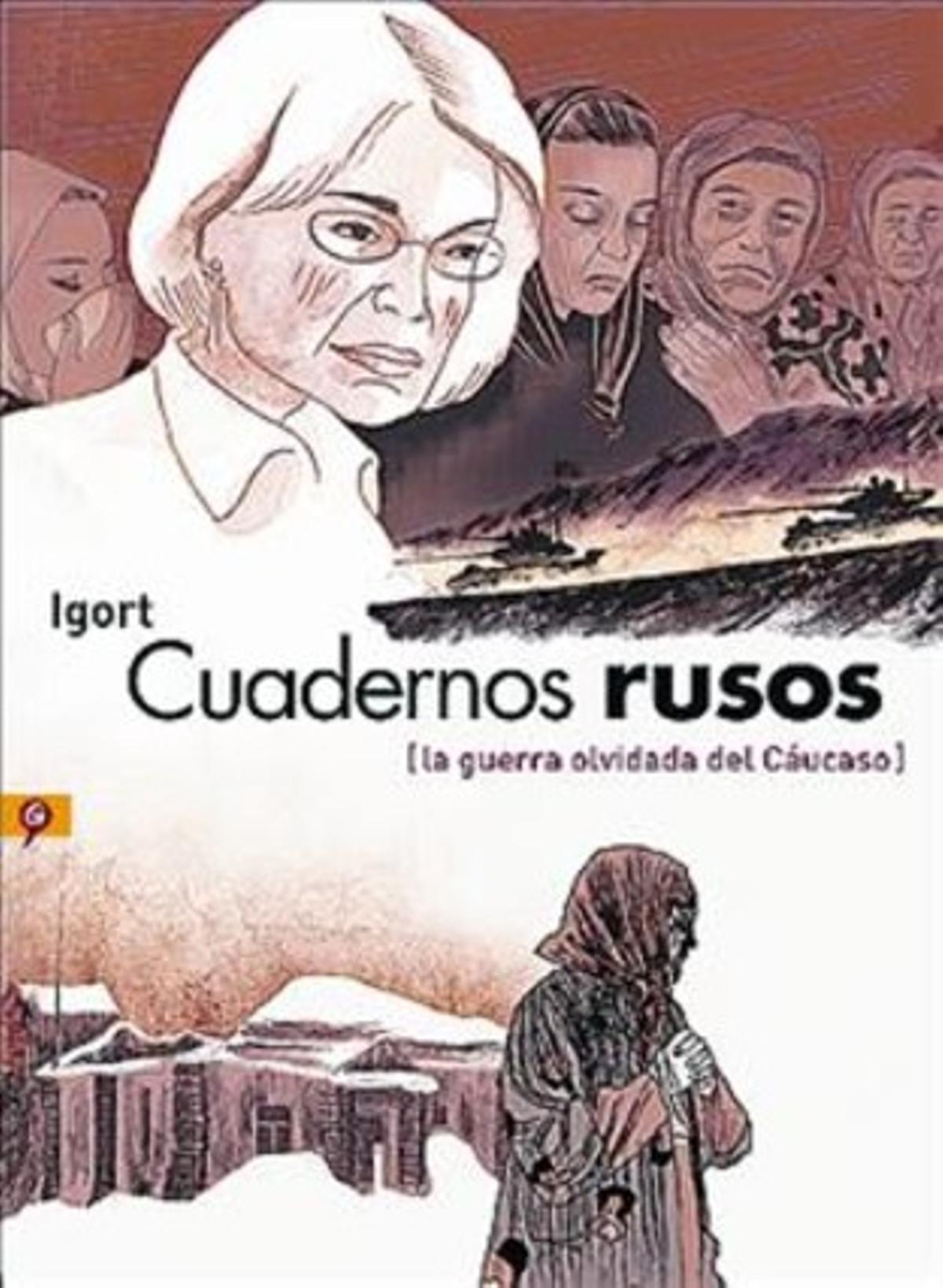 ESCALOFRIANTES RELATOS. Arriba, viñeta de Igort inspirada en el 'Guernica' de Picasso de una madre ante su hijo mutilado. Debajo, Anna Politkóvskaya. Al lado, el testimonio de un torturado.