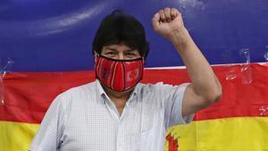 El expresidente de Bolivia, Evo Morales, el pasado 18 de octubre en Buenos Aires.