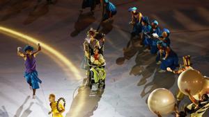 Los actores durante la ceremonia de apertura de los Juegos Tokyo Paralímpicos 2020