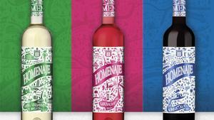 Los vinos Homenaje, con etiqueta grafitera, de Bodegas Marco Real.