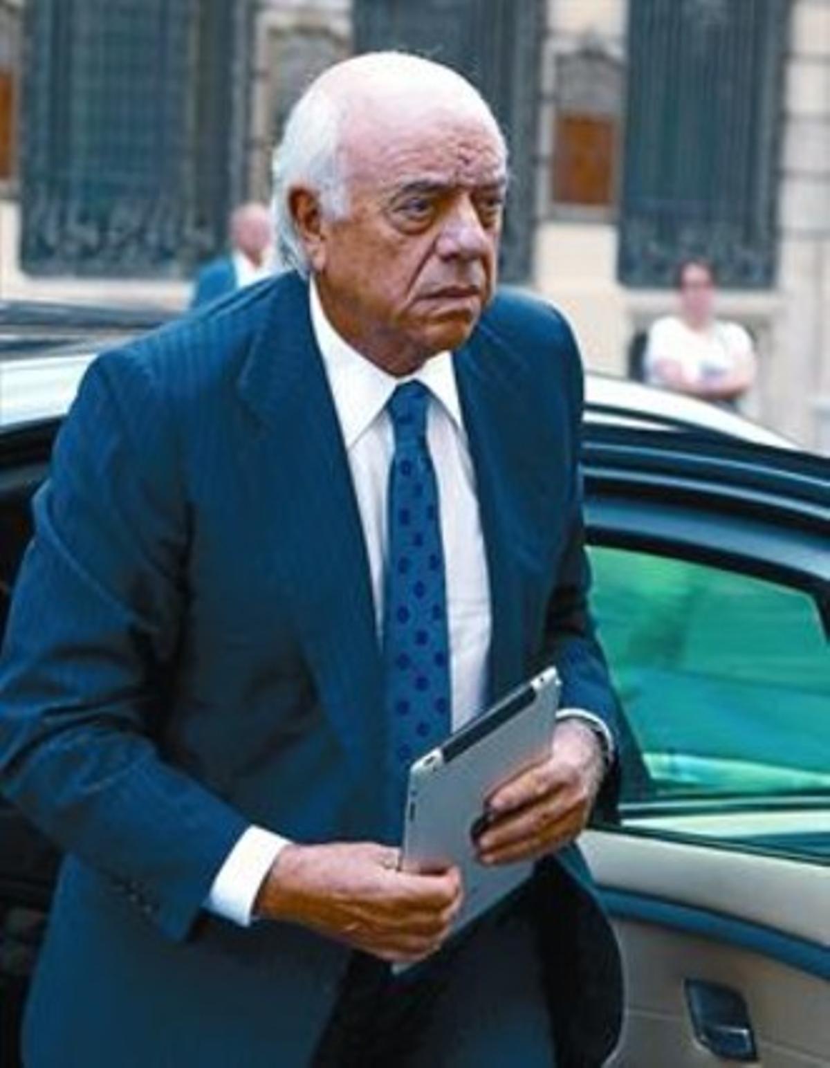 Francisco González, presidente del BBVA, ayer.