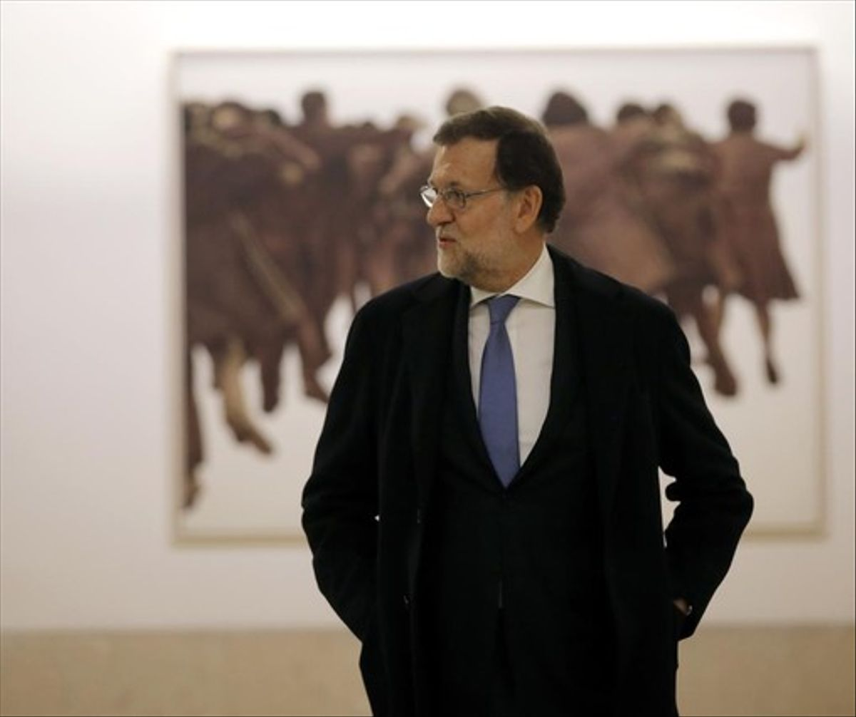 Mariano Rajoy, presidente en funciones, este viernes en el Congreso.