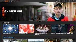 Detalle de la página web en español de la cadena cultural europea ARTE.