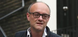 Dominic Cummings, junto a su casa en Londres en agosto pasado.