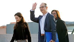 Jordi Turull sale de la cárcel de Lledoners para ir a trabajar.