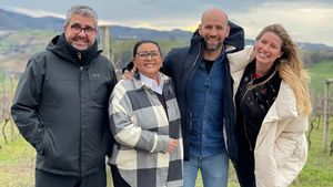 Florentino Fernández, María del Monte, Gonzalo Miró y Anne Igartiburu.