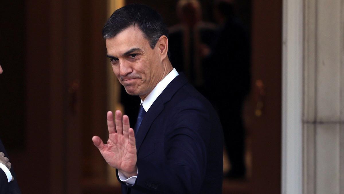 Pedro Sánchez, en junio pasado, durante la recepción al presidente de Ucrania.