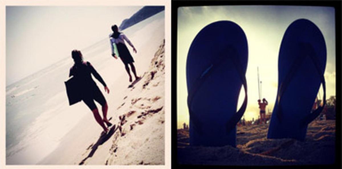 Dos imágenes de Instagram.