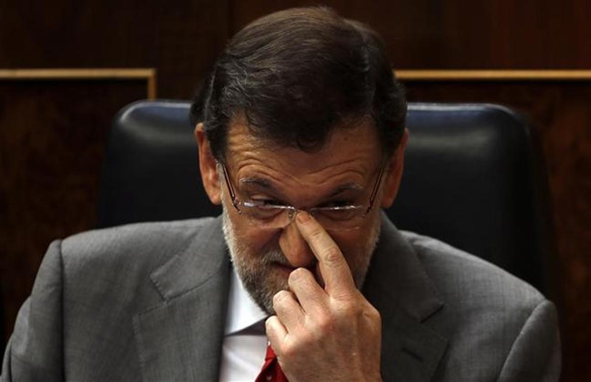 Mariano Rajoy, ayer en el Congreso.