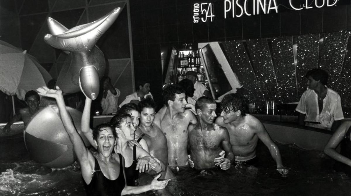 La discoteca Studio 54 de Barcelona, en la década de 1980.