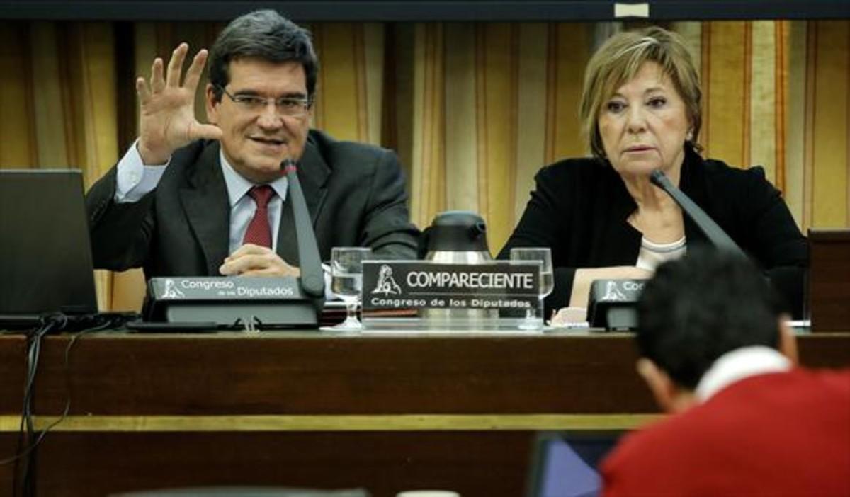 José Luis Escrivá Belmonte, presidente de la Airef, durante una comparecencia en el Congreso.