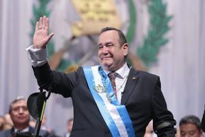 El presidente de Guatemala, Alejandro Giammattei.