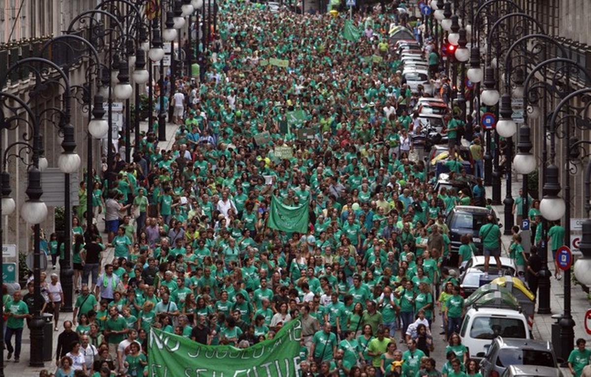 Participantes en la manifestación de Palma.