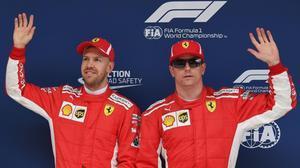 Sebastian Vettel y Kimi Raikkonen, dominadores hoy de la 'pole' en los últimos ensayos del GP de China.