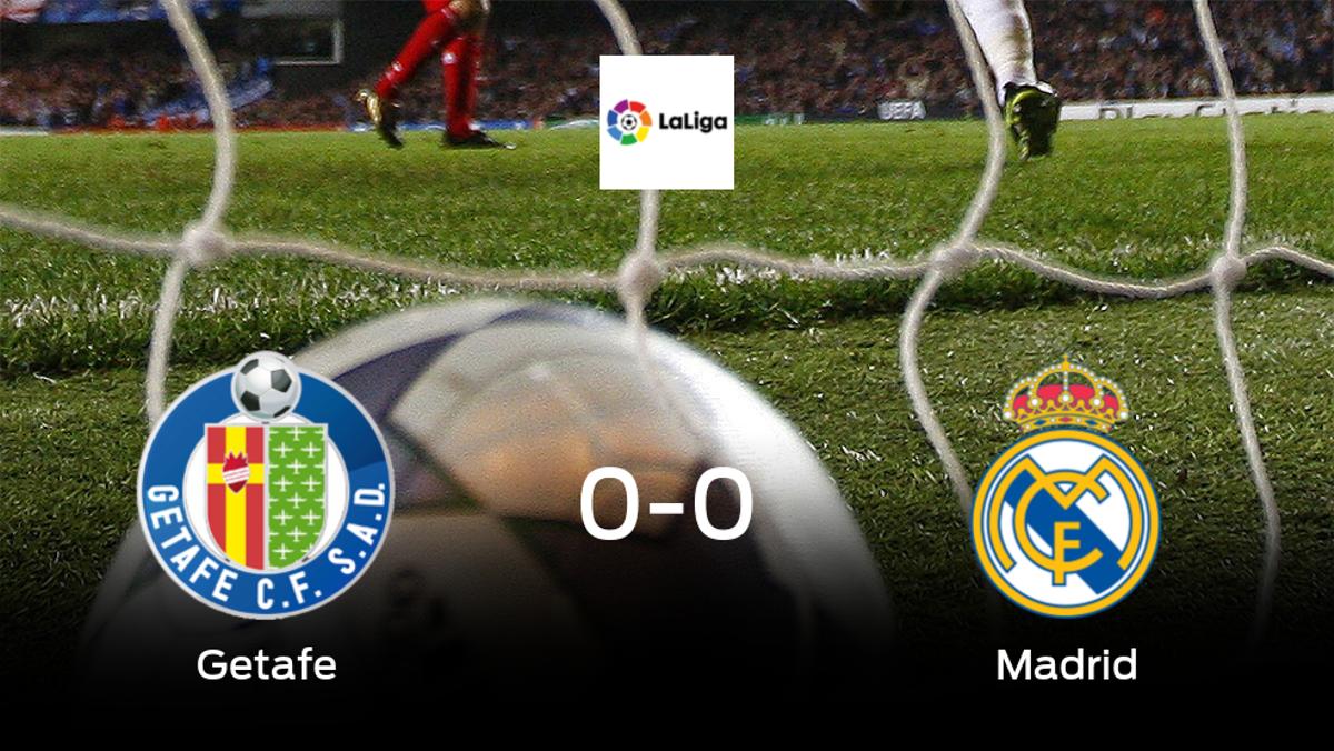 El Getafe y el Real Madrid concluyen su enfrentamiento en el Coliseum Alfonso Pérez sin goles (0-0)