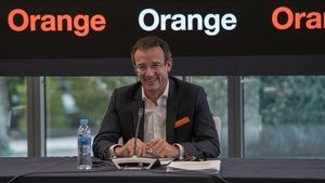 Primera rueda de prensa de Jean François Fallacher como consejero delegado de Orange España.
