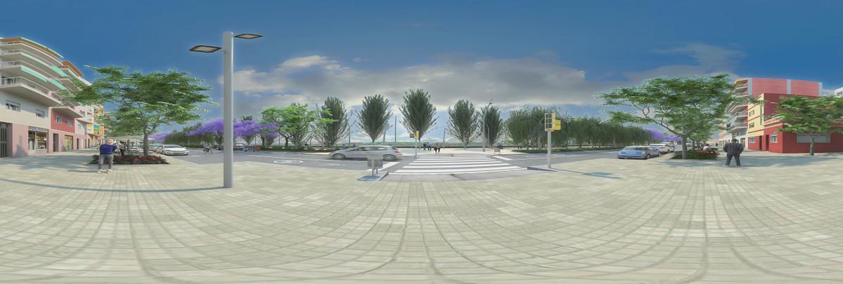 Segunda propuesta del futuro diseño del paseo de la Salzereda, en Santa Coloma de Gramenet.