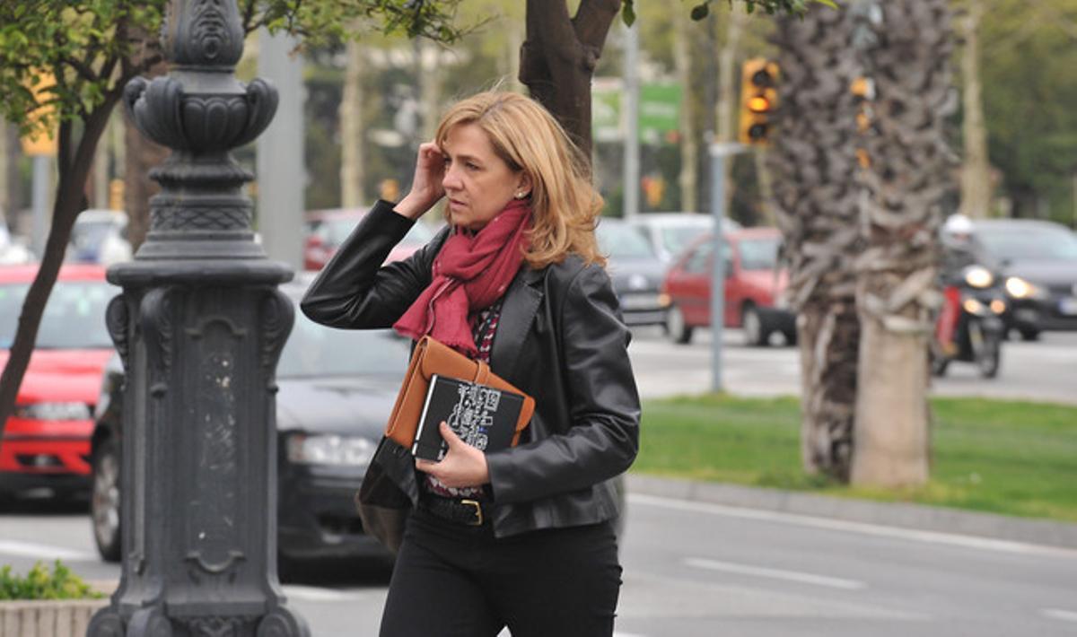La infanta Cristina, el pasado abril en Barcelona.