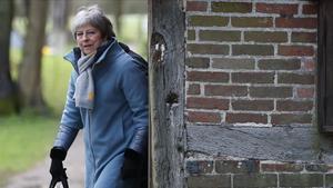 La primera ministra británica Theresa May,el 10 de marzo del 2019.