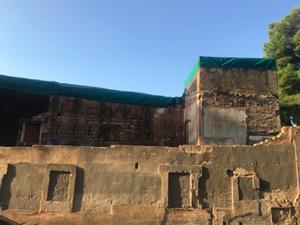 Estado actual del Castillo de Bellvís en el barrio de la Torrassa de L'Hospitalet