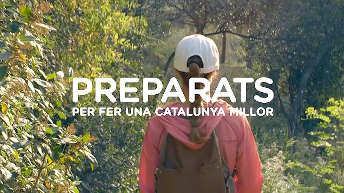 Anuncio de la Generalitat de Catalunya bajo el lema 'Preparats' (preparados).