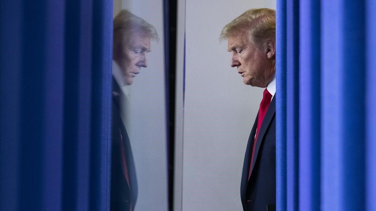 Dondald Trump, antes de intervenir en la Casa Blanca.