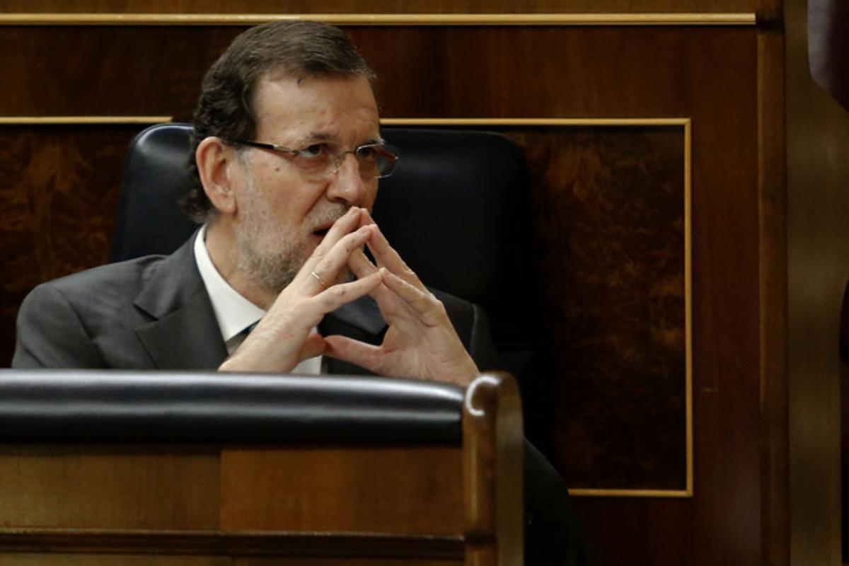 Mariano Rajoy, en su escaño del Congreso, el pasado 2 de julio.