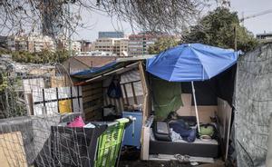 Barcelona 23 09 2019 mibarcelona mi barcelona Asentamientos chavolas en Poblenou  una barraca en Tanger con Meridiana  FOTO de FERRAN NADEU