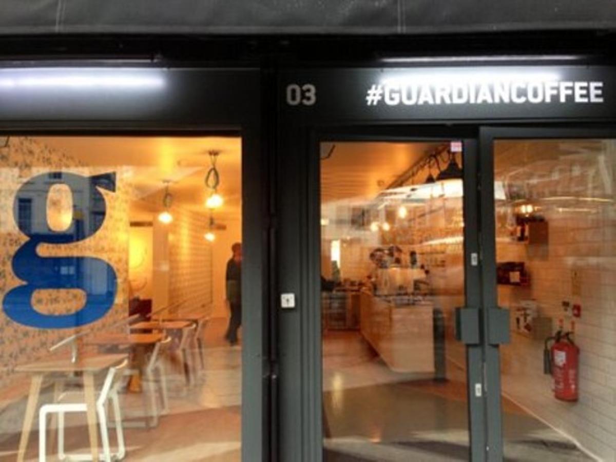 Imagen del bar #guardiancoffee que ha abierto el diario 'The Guardian'.