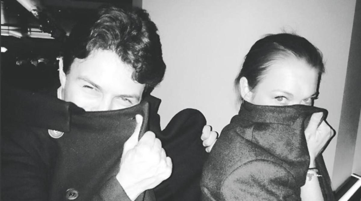 Lindsay Lohan junto a su nuevo novio en una instantánea que ha colgado en su cuenta de Instagram.