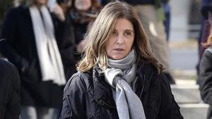 Rosalía Iglesias, la mujer de Bárcenas, sale de la Audiencia el 16 de enero del año pasadotras declarar como testigo.