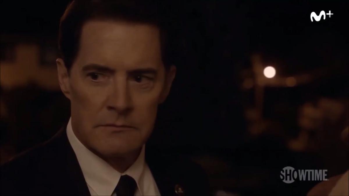 El actorKyle MacLachlan, que encarna alagente especialDale Cooper, en una imagen de la nueva entrega de la serie 'Twin Peaks'.