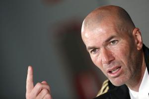 El entrenador del Real Madrid Zinedine Zidane en una conferencia de prensa.