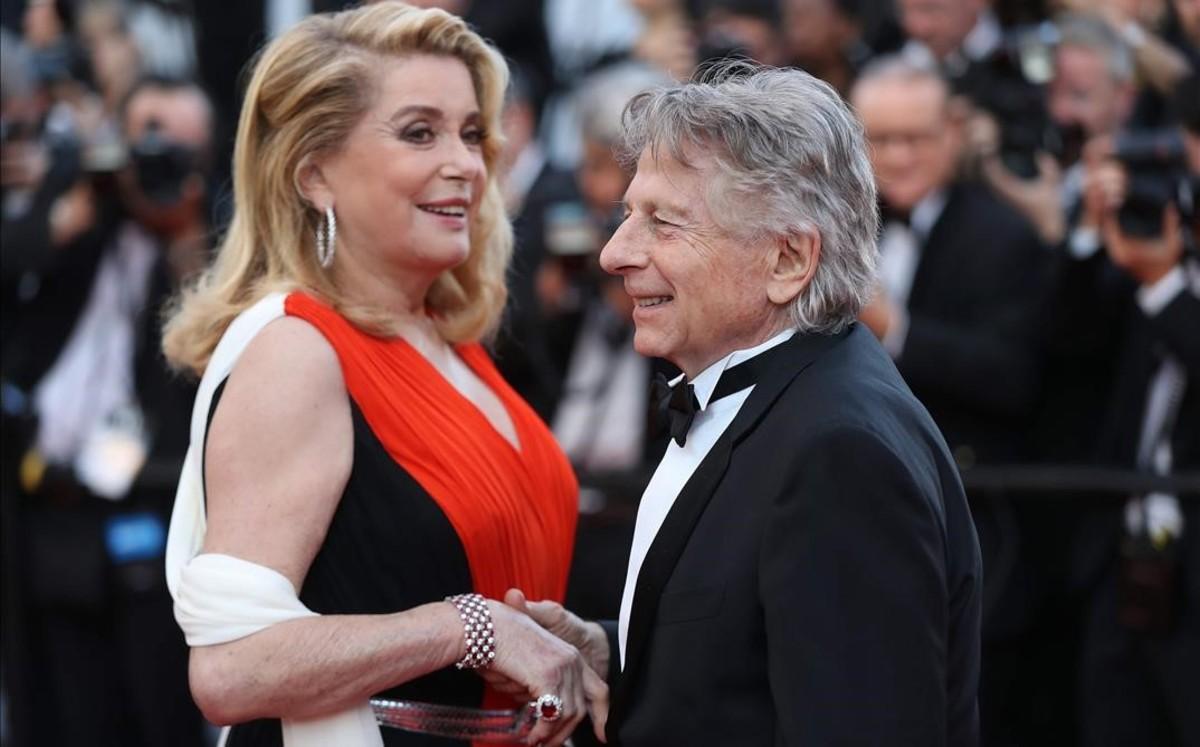 Catherine Deneuve, una de las firmantes del manifiesto, junto a Roman Polanski, en el pasado Festival de Cannes.