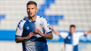 Gorka Guruzeta, autor del segundo gol del Sabadell.
