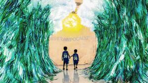 El artista canadiense Benjamin Von Wong intenta agitar conciencias en Vietnam sobre el problema del plástico.
