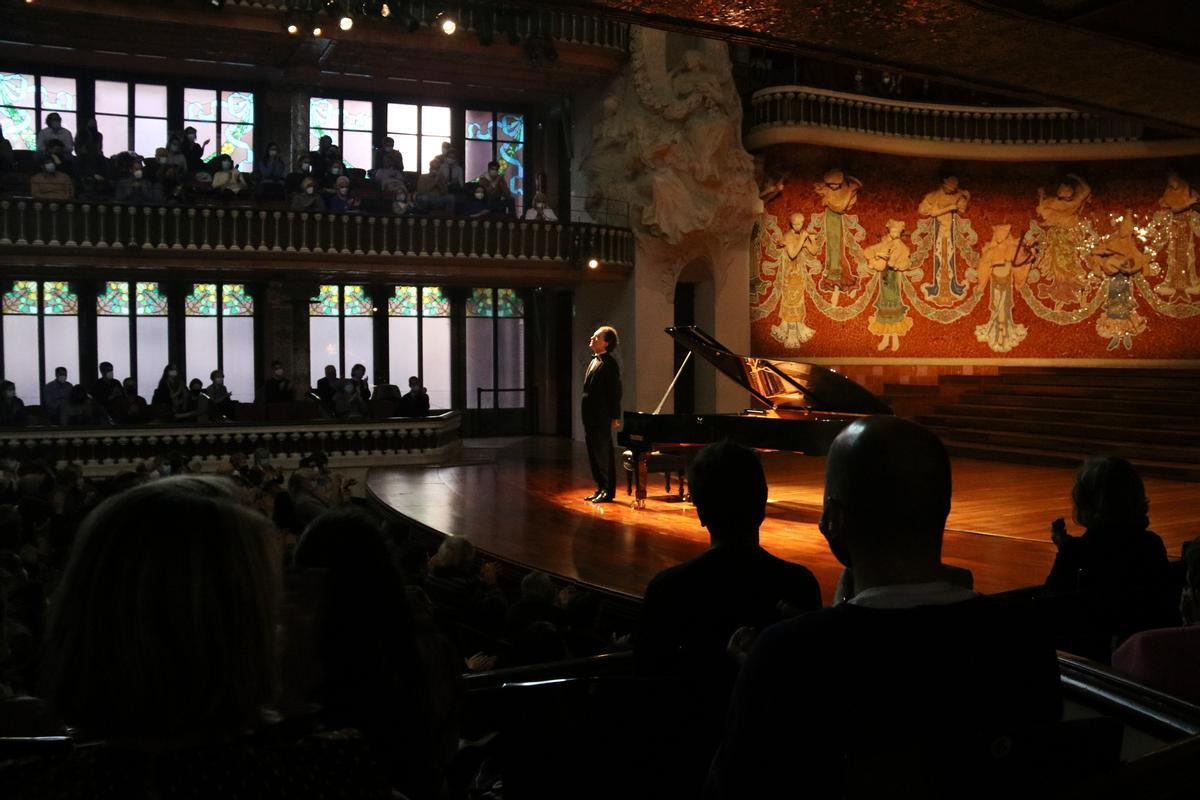 El pianista Evgeny Kissin en el Palau de la Música, este miércoles 7 de abril
