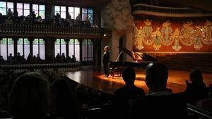 El pianista Evgeny Kissin en el Palau de la Música, el pasado 7 de abril.