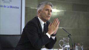 Fernando Grande Marlaska, en una comparecencia ante los medios de información.