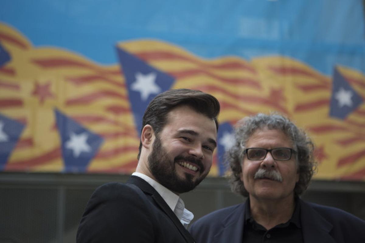 Gabriel Rufián junto a Joan Tardà.