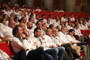 Varios chefs miembros de Euro-Toques, en un congreso.